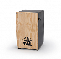 Кахон NATAL DRUMS CAJON LARGE BLACK WITH NATURAL PANEL - JCS.UA