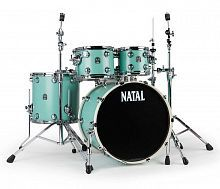 Ударная установка NATAL DRUMS CAFE RACER SEA FOAM GREEN - JCS.UA