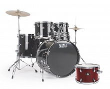 Ударная установка NATAL DRUMS DNA ROCK DRUM KIT RED HARDWARE PACK - JCS.UA